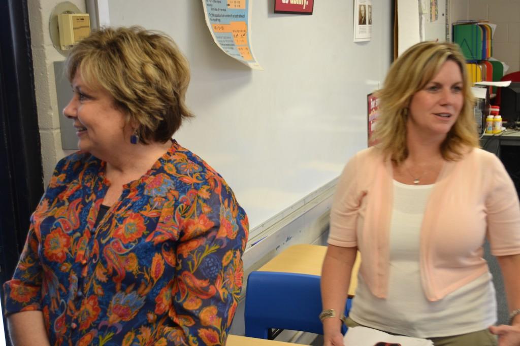 Superintendent White with Principal Allen-Baughman