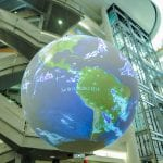 Weather globe at National Weather Center in Norman, Oklahoma