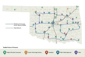 Oklahoma Community Anchor Network fiber map