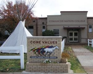 Comanche Nation College entrance