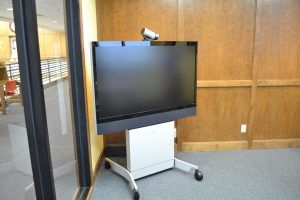 Librarys video conferencing equipment