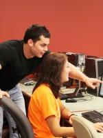 Guy and girl at computer