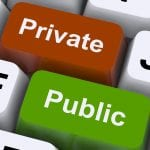 Private and Public keys on a keyboard