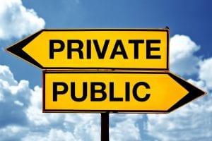 Public Private Sign