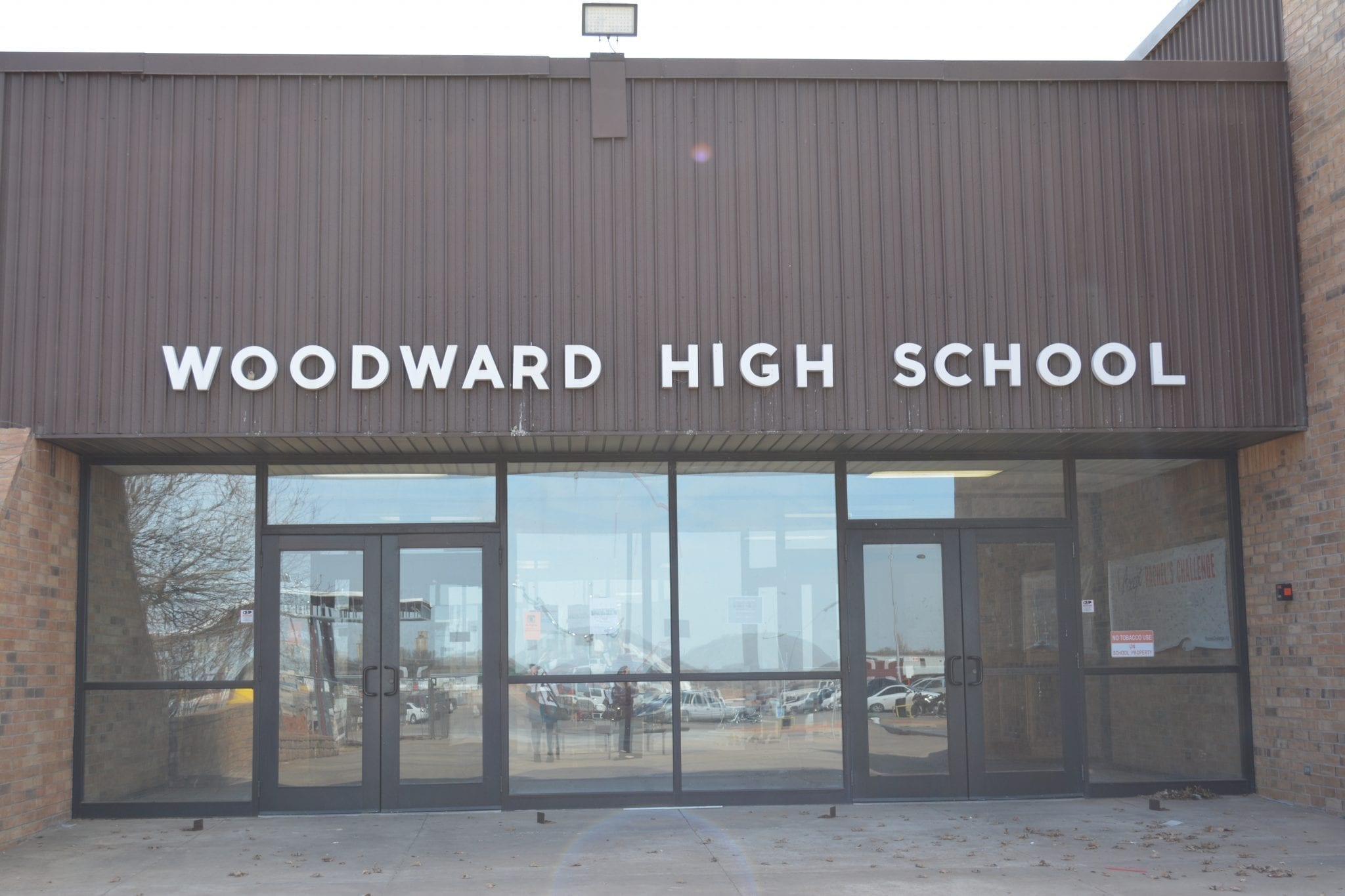 Entrance to Woodward High School