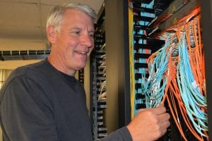 Frank Hedges manages OneNet's data center.