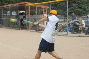 Nick Playing Baseball