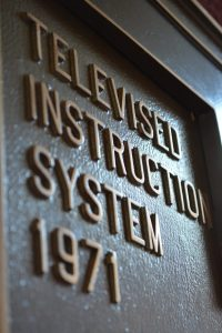 Televised Instruction System sign from 1971