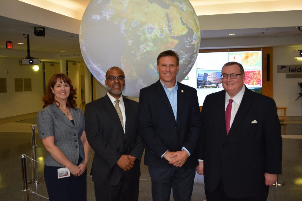 Alicia Knoedler, Vonley Royal, Rep. Todd Thomsen, Chancellor Glen D. Johnson