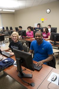 Rose State students using computers