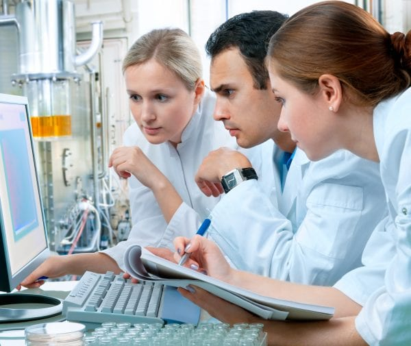 Researchers using computer