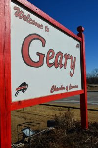 Welcome to Geary sign