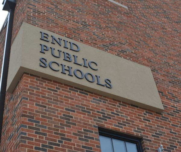 Enid Public Schools sign