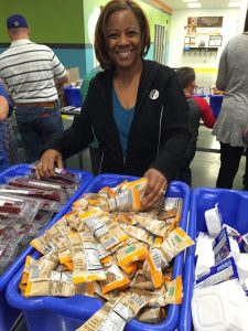Norma at food bank