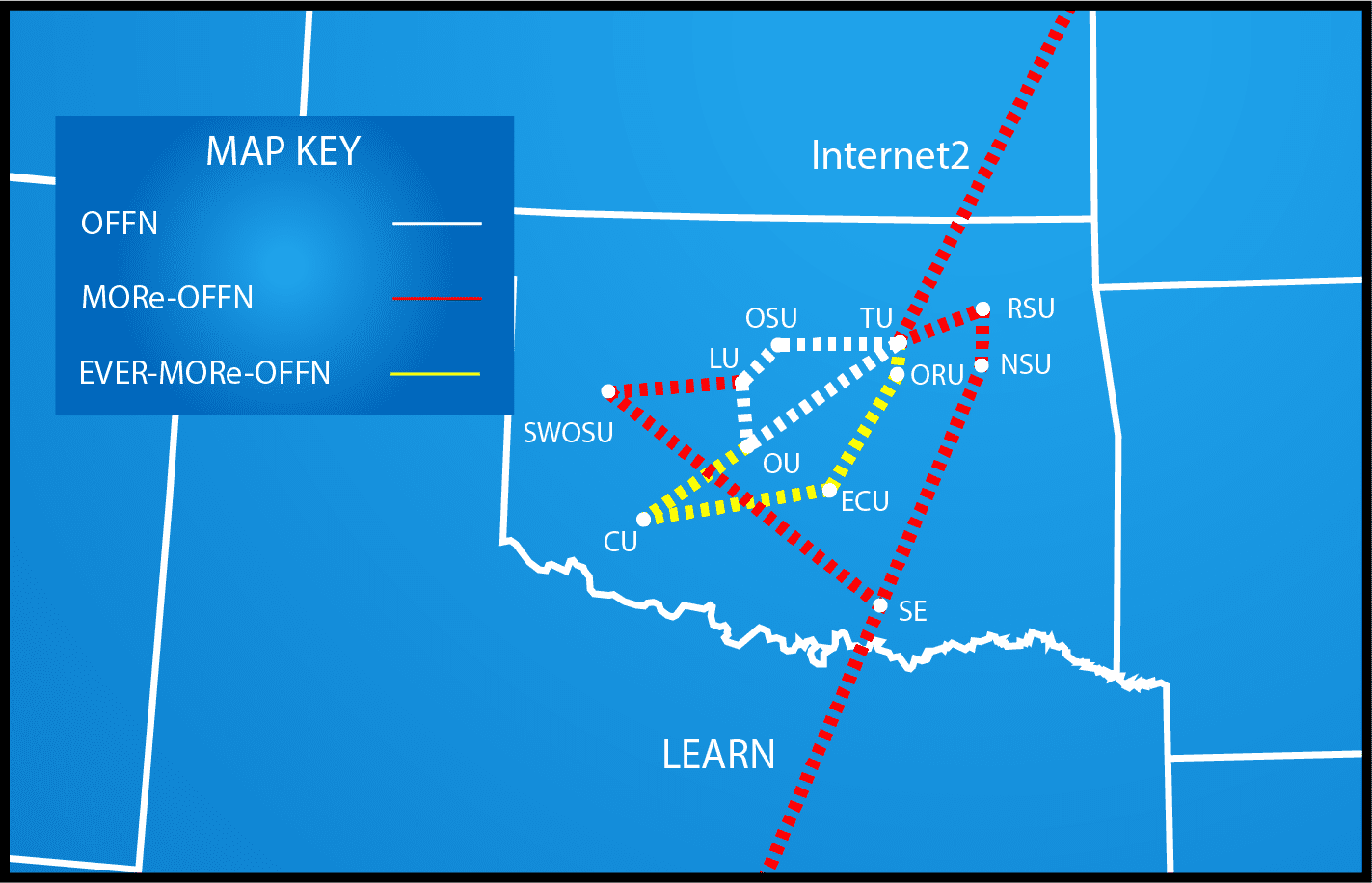 Map showing grant networks