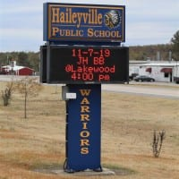 Haileyville Public Schools sign
