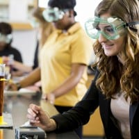 Cameron Student Conducting Science Experiment