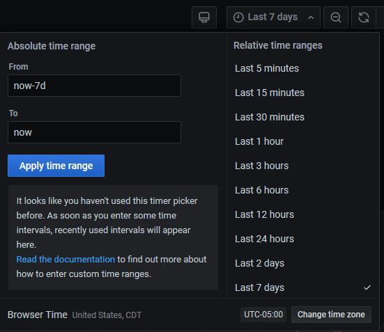 SNAPP Time Period Drop-Down Box
