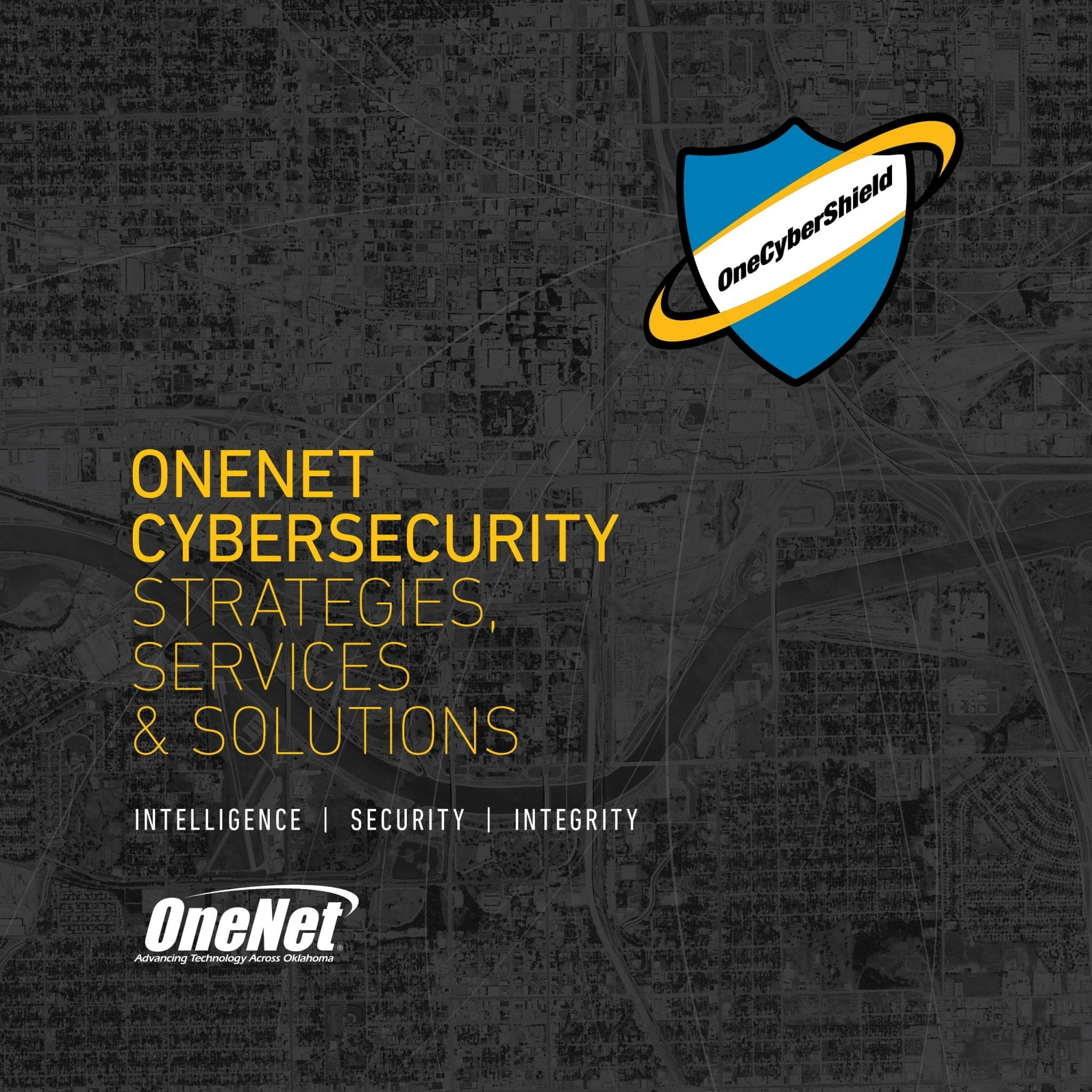 OneNet Cybersecurity Report Cover - Strategies, Services & Solutions - Intelligence, Security, Integrity