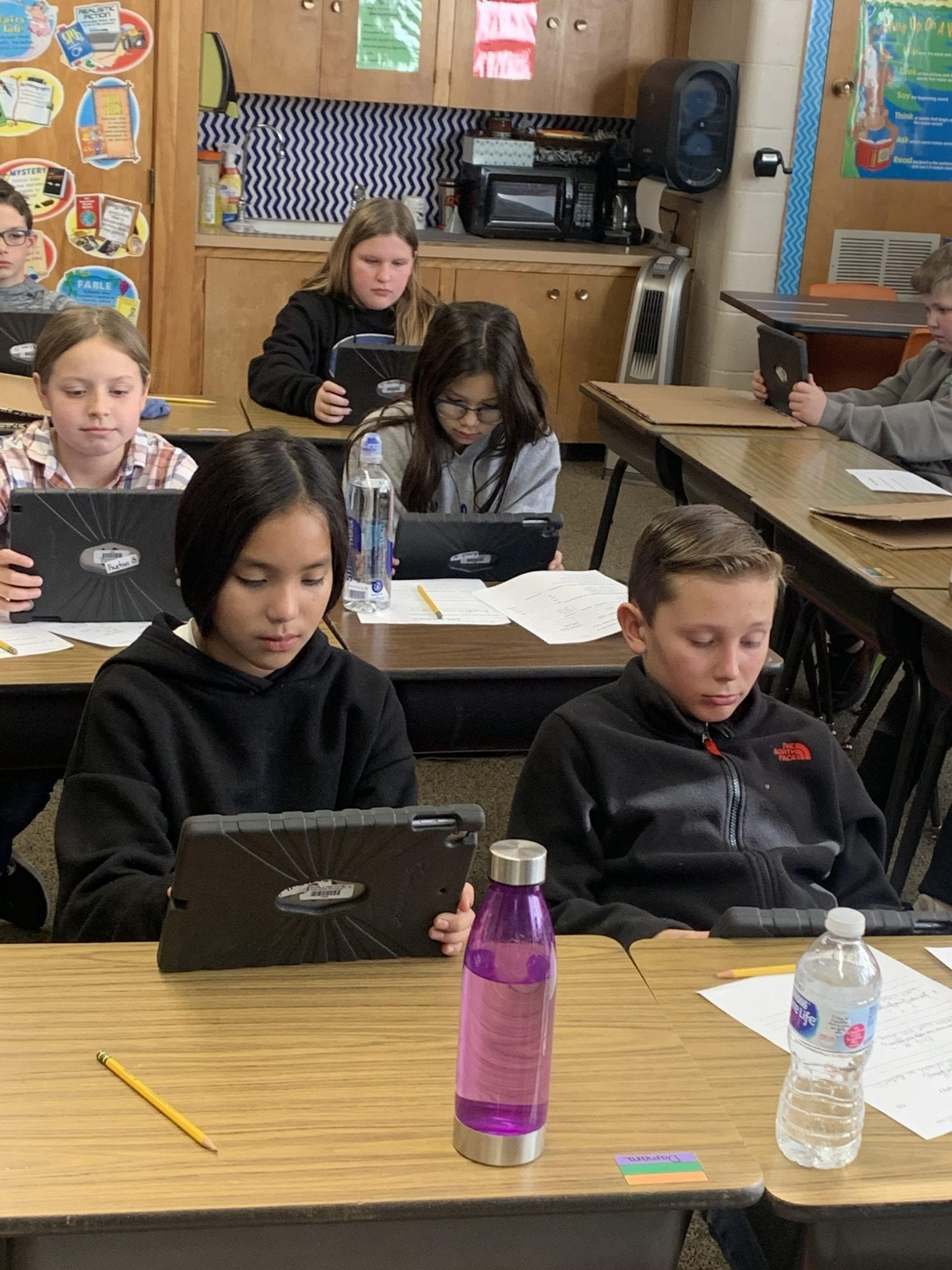 Students at Woodward Public Schools Using Technology